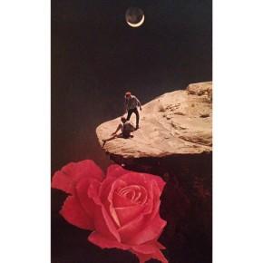 """Above It All,"" paper collage, Julie Mastrine"